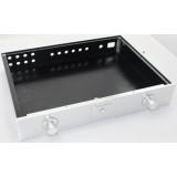 Aluminium Case - Power Amplifier - Dual Knob - Silver