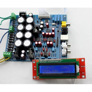 24Bit / 192KHz LCD DAC Decoder Soft Control PCM1794+AK4118 Optical, Coaxial, USB