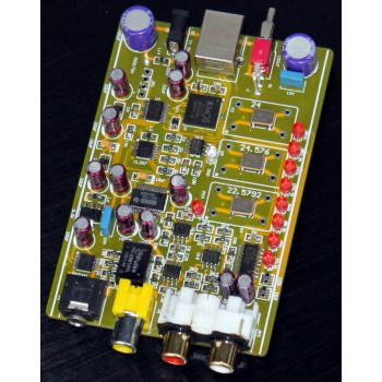 XMOS U8 USB Audio 32Bit / 384KHz DAC Decoder Board DSD1796 + MAX441 HeadPhone Amp