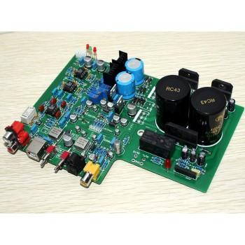DAC 1955 decoder +LM3886 power amplifier Board (fiber-optic coaxial USB decoding)