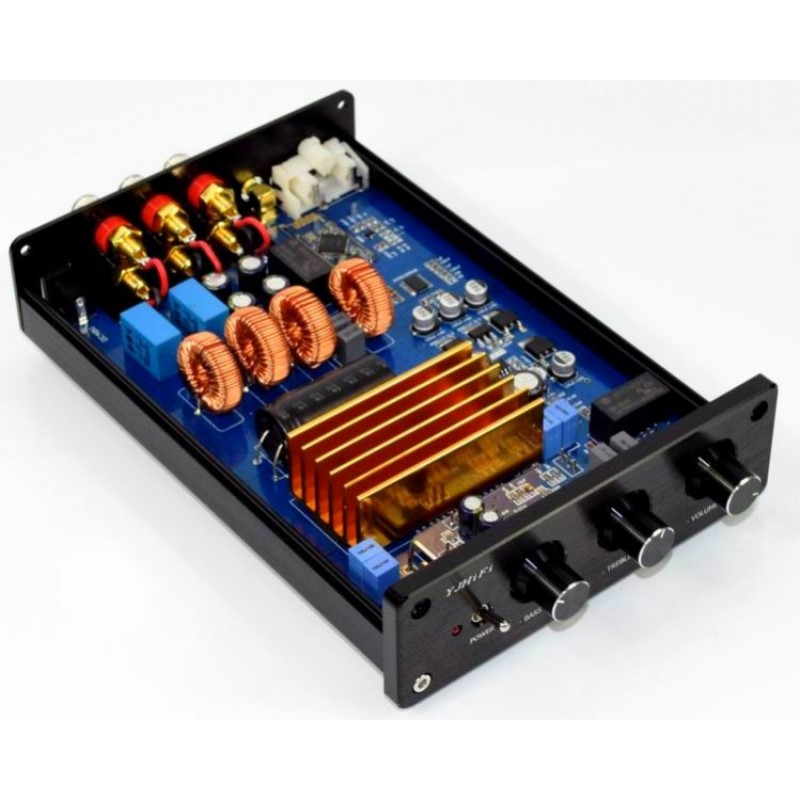 Yuan Jing Audio - TPA3255 Class-D 2 1 Stereo Amplifier [150W x 2] +
