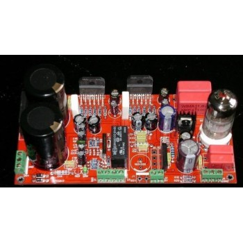 LM3886 + 6N11 Tube Stereo Power Amplifier [ 68W x2 ]