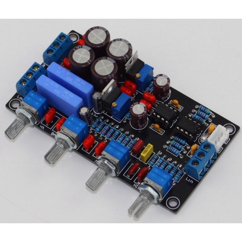 Yuan Jing Audio - NE5532 Tone Control Pre-Amplifier Board - USD $18 20