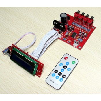LC75342 Audio Tuning + LCD Remote Volume & Channel Selector Board