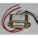 EI Transformer [B] INPUT: AC 220V, OUTPUT: AC 12V-0-12V (15W)